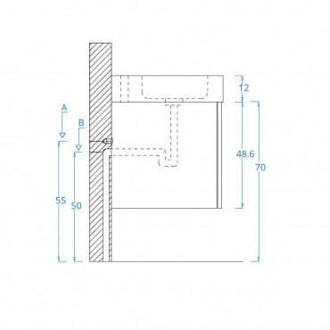 Schéma de montage armoire de salle de bain suspendue Blues 2.0 BMT Bagni