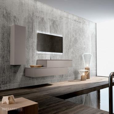 meuble de salle de bain suspendu en quinconce Blues 2.0 bmt Bagni