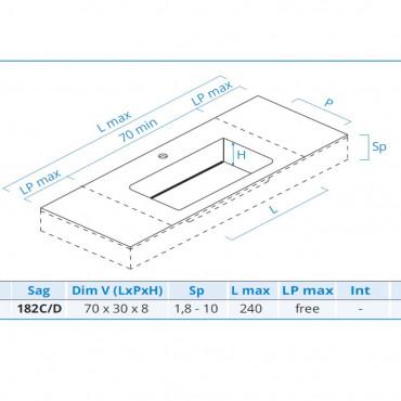 lavabo mobili bagno design misure Blues 2.0 Bmt Bagni