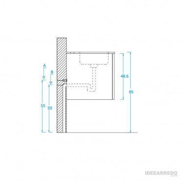 meuble-lavabo de salle de bain Blues 2.0 BMT Bagni