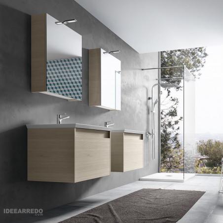 mobiletto bagno doppio lavabo Mars Everyday BMT Bagni