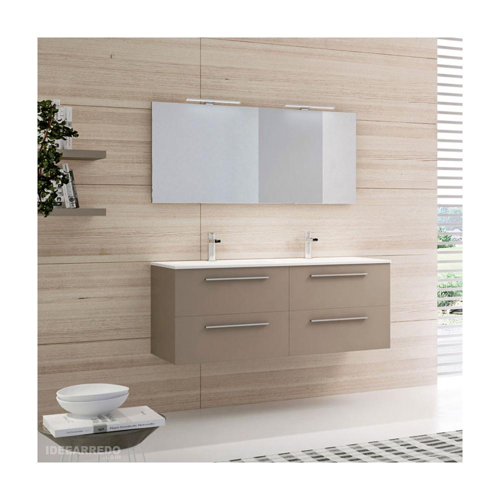 Meuble de salle de bain 120 cm double vasque Blues Bmt Bagni