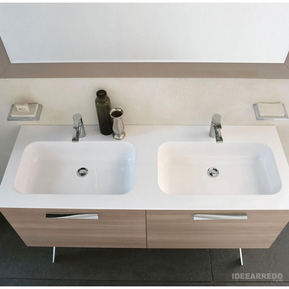 Mobile bagno 140 cm doppio lavabo Blues Bmt bagni
