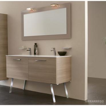mobile bagno doppio lavabo a terra Blues bmt Bagni