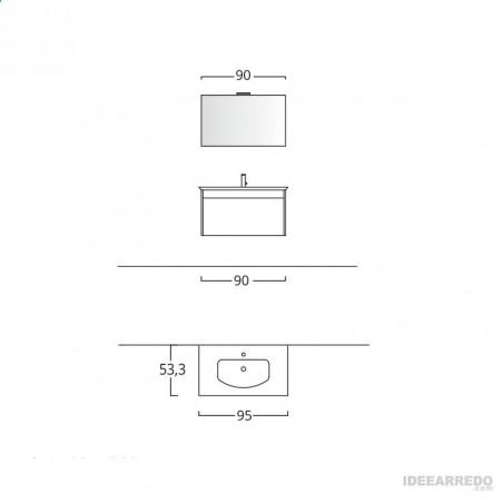 meuble de salle de bain mesure Mars BMT Bagni
