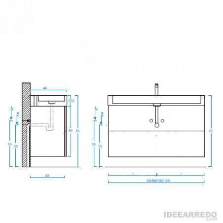 armoire de salle de bain hauteur du sol Mercury Bmt Bagni