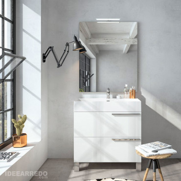 Weißer Badezimmerschrank Mercury BMT Bagni