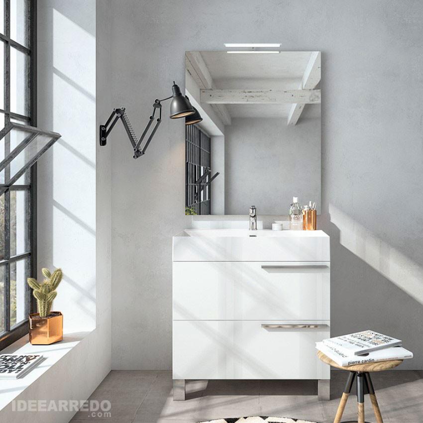 Meuble de salle de bain blanc Mercury BMT Bagni
