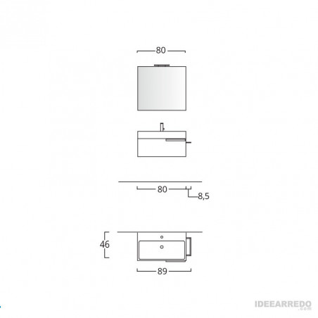 meuble de salle de bain mesure Mercury BMT Bagni