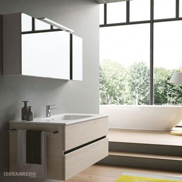 meuble de salle de bain contemporain suspendu Moon BMT Bagni