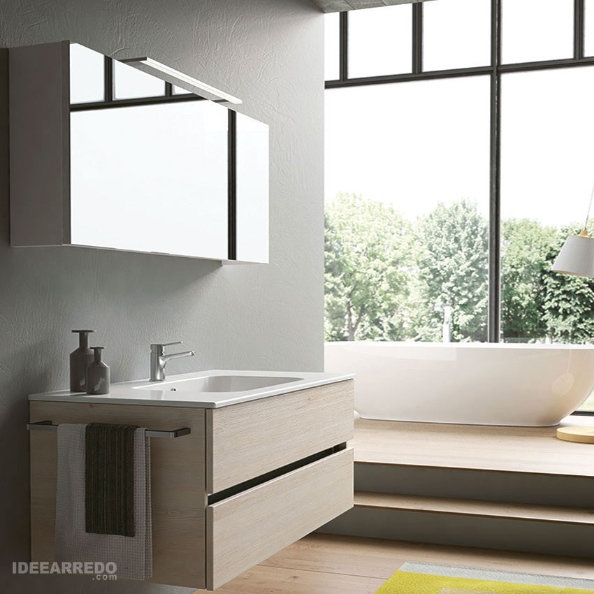 mobili per bagno sospesi moderni Moon BMT Bagni