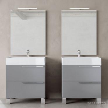 baños con dos lavabos Mercury BMT Bathrooms
