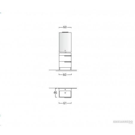 meuble de salle de bain au mercure mesure BMT Bagni