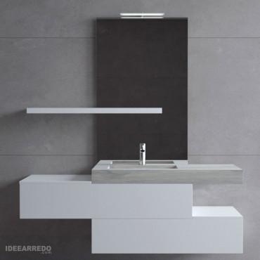 Meuble de salle de bain suspendu Blues 2.0 par BMT Bagni