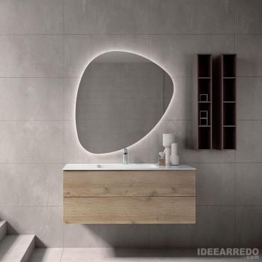 mueble de baño de madera natural Blues 2.0 BMT Bagni