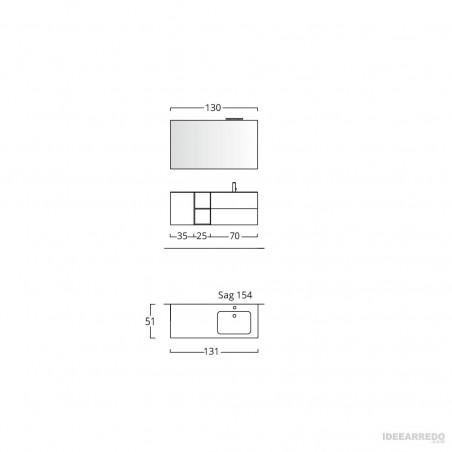 meuble de salle de bain lavabo suspendu Blues 2.0 BMT salles de bains