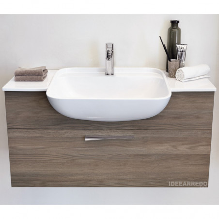 meuble de salle de bain en bois Blues BMT Bagni