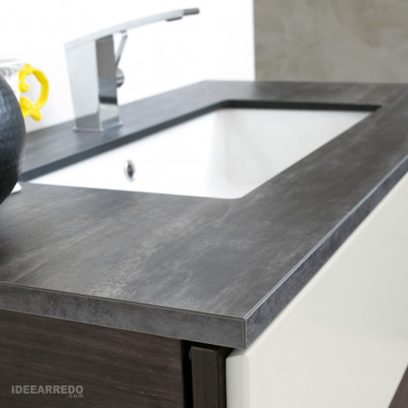 meuble de salle de bain plateau en bois Sound BMT Bagni