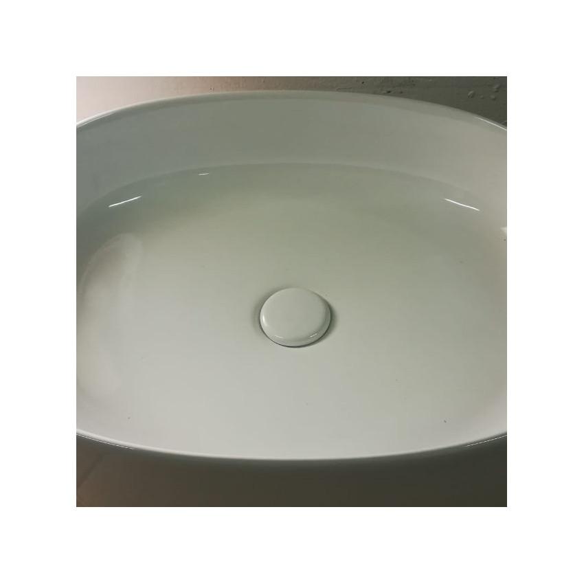 Olympia glänzend weißer Keramik-Klick-Klack-Abfluss
