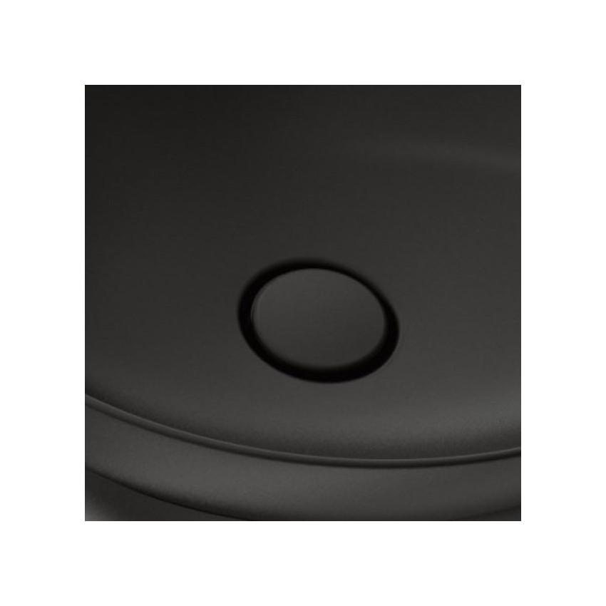piletta in ceramica click clack nero matt Olympia