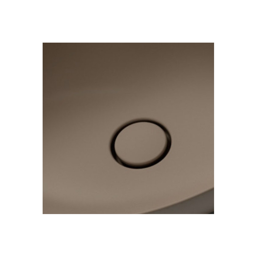 piletta click clack in ceramica marrone opaco matt Olympia