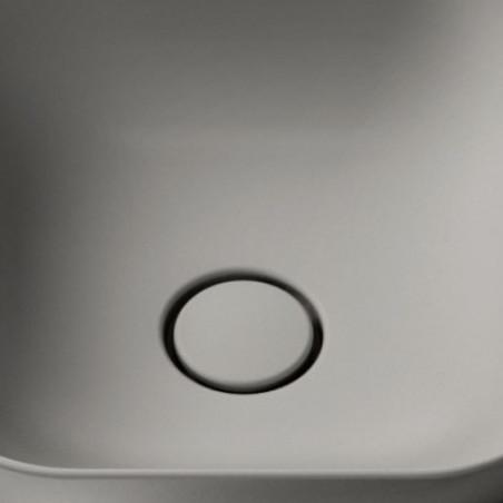 piletta click clack ceramica grigio matt opaco Olympia