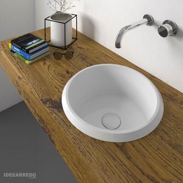 Olympia ceramic Vinyl countertop washbasin