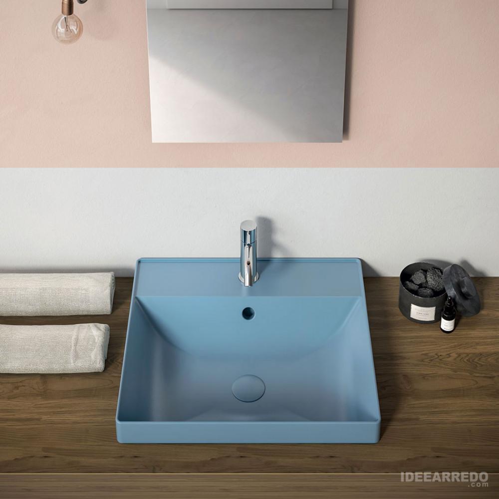 Lavabo de salle de bain couleur céramique Olympia Roger