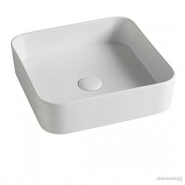 lavabo bagno colorato Olympia ceramica Smash quadrato