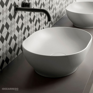 Olympia ceramic Trend oval countertop washbasin bowl