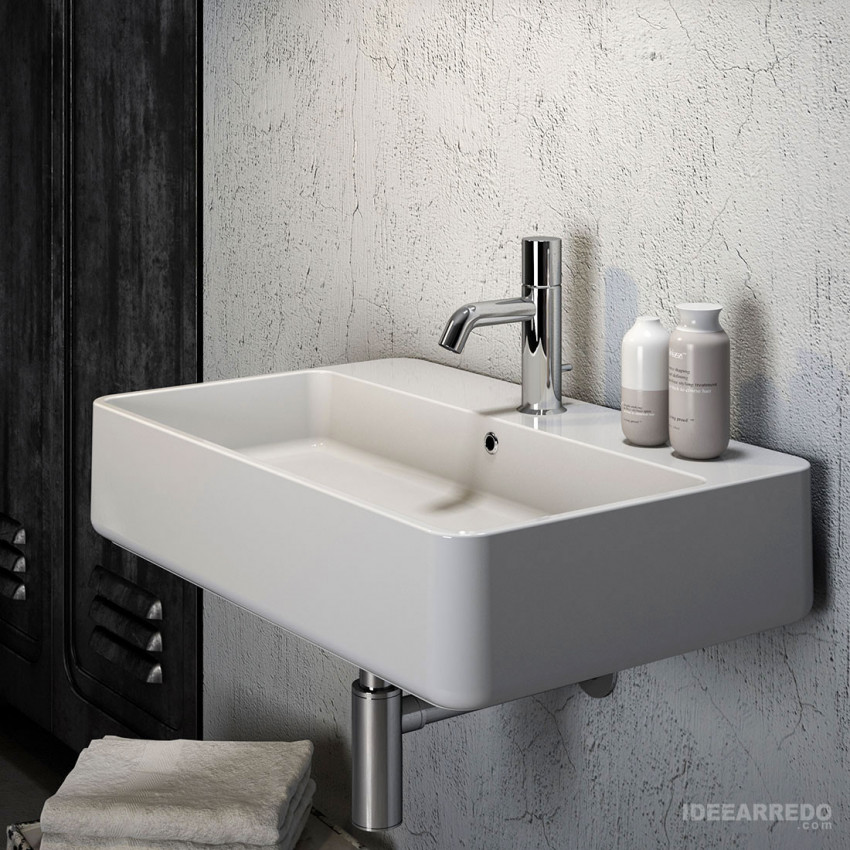 countertop or wall-hung bathroom sink Olympia ceramica Tratto 65