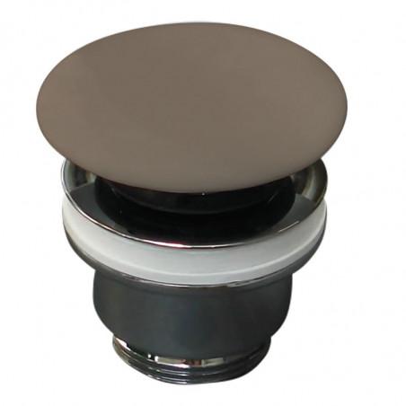 piletta marrone opaco click clack in ceramica Olympia