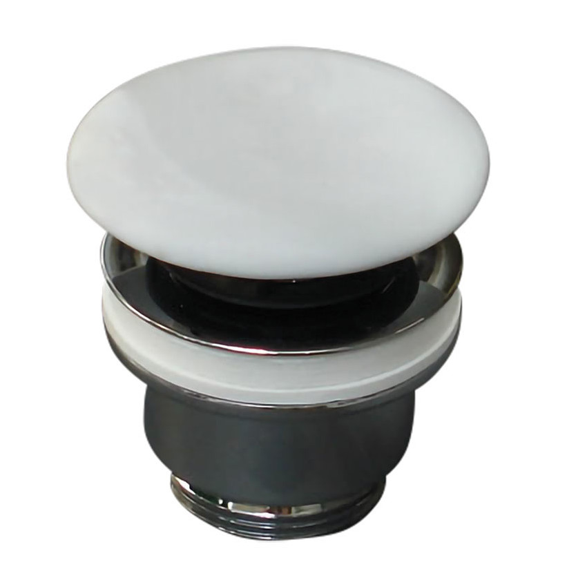 Olympia Klick-Klack Keramik-Abfluss weiß matt