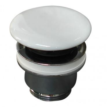 Olympia Ceramica glossy white click clack ceramic sink drain