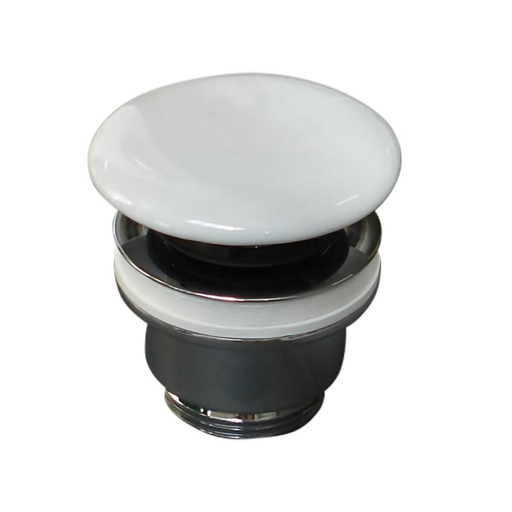 Olympia Ceramica Drain d'évier en céramique Click Clack blanc brillant