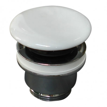 piletta in ceramica per lavabo click clack bianco lucido Olympia Ceramica