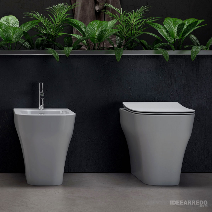 sanitari filo muro scarico traslato Synthesis Eco Olympia ceramica