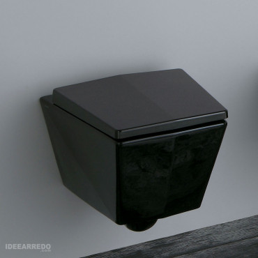Schwarzes WC Crystal Olympia Ceramica