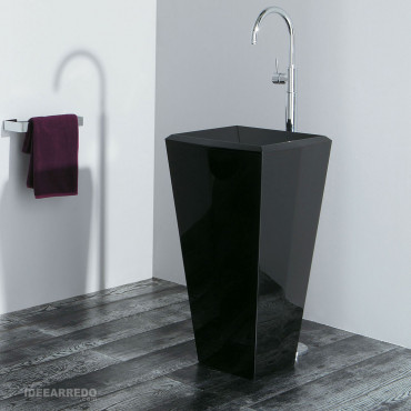 Lavabo freestanding nero Crystal Olympia Ceramica