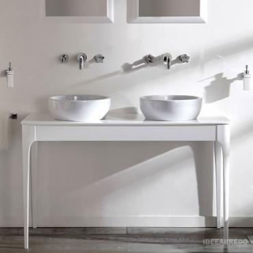 Olympia Ceramica Impero weiße Badezimmermöbel