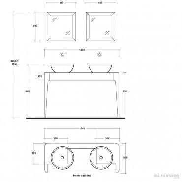 meuble de salle de bain sortie design Impero Olympia Ceramica