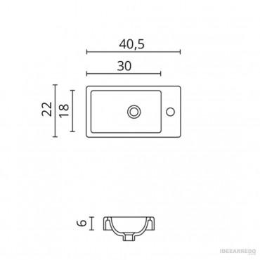 mobile lavabo piccolo 40 cm Galaxy BMT Bagni