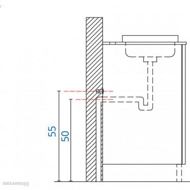 mobiletto salvaspazio per bagno montaggio Galaxy BMT Bagni
