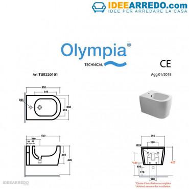 Fiche technique luminaires suspendus colorés Tutto Evo Olympia Ceramica