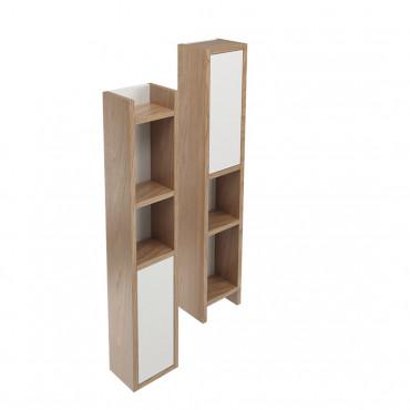 Unidad de pared suspendida Olympia Ceramica con cajón y estantes
