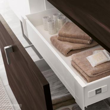Meuble de salle de bain en bois funky 01 BMT Bagni - tiroir interne en option