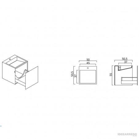 mobilier de salle de bain design design en ligne Funky 01 BMT Bagni