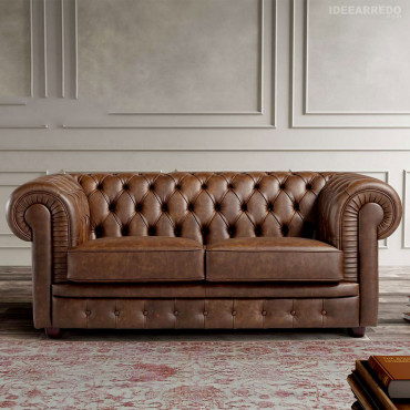 Chesterfield Ledersofa...
