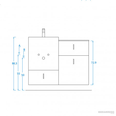 arredo bagno design online Funky 04 BMT Bagni