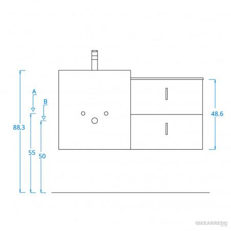 arredo bagno design online Funky 06 BMT Bagni - attacchi idrici
